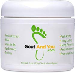 GoutandYou Therapeutic Gout Relief Cream with Arnica Extract