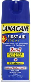 Lanacane First Aid Spray- 2-in-1 Pain Relief and Antiseptic Spray