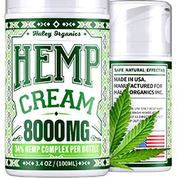 Pain Relief Cream with Hemp Oil - 8000 mg Extract