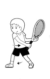Badminton backhand 2