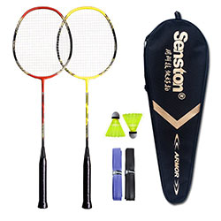 Senston - 2 Player Badminton Racquets Set Double Rackets
