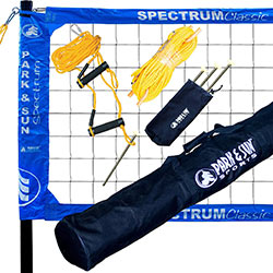 Park & Sun Sports Spectrum Classic Portable Professional Outdoor Volleyball Net System