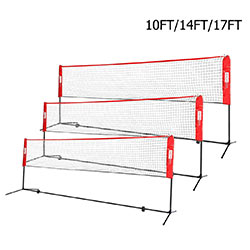 VIVOHOME Portable Height Adjustable Outdoor Volleyball Net Set